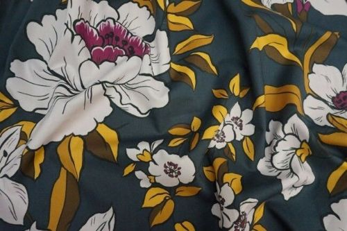 Lady McElroy Dressmaking Fabric - Coleman Bouquet  Gold